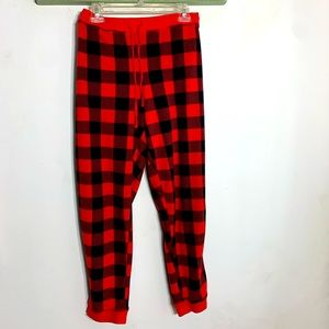 Jenni Jennifer Moore red plaid fleece pajama pants